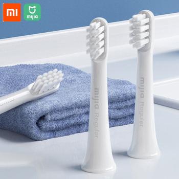 Oryginalny Xiaomi Mijia T100 wymiana szczoteczki do zębów szczoteczki do zębów T100 elektryczne głębokie czyszczenie sonicare szczoteczki do zębów tanie i dobre opinie Rohs CN (pochodzenie) Xiaomi T100 toothbrush head Gotowa do działania Mijia T100 Toothbrush Heads 2 KANAŁY Xiaomi Smart Remote Control
