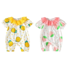 Summer Newborn Baby Girls Clothes One-piece Jumpsuits Clothing Cotton Shorts Sleeve Romper Infant