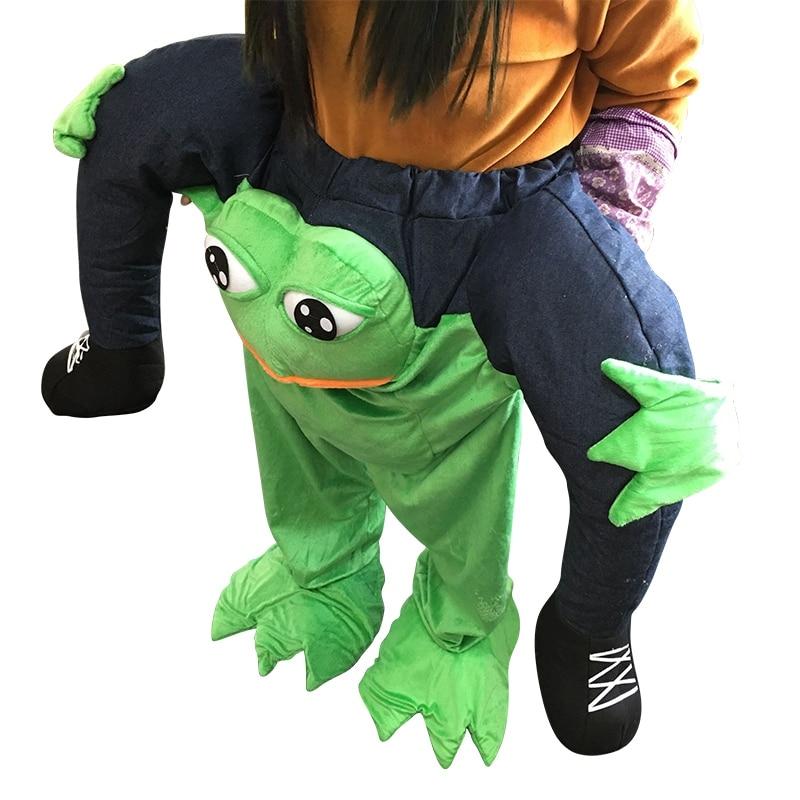 Novelty Riding Mascot Costume Vest On My Body Funny Animal Pants Fancy Dress Up Oktoberfest Halloween Party Cosplay Costume Frog