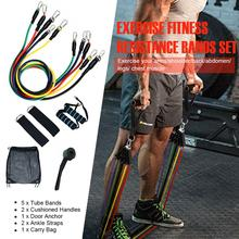 11pcs/set Resistance Bands Set Yoga Exercise Pull Rope Fitness Exercises Home Gyms Workout Latex Tubes Band Stretch Training