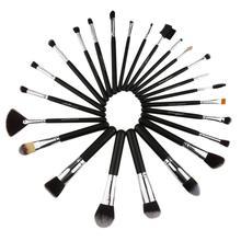 24pcs/set Professional Women Facial Makeup Brushes Wooden Handle Facial Cosmetic Makeup Soft Synthetic Hair Brushes 6pcs ombre mermaid tail facial makeup brushes