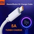 Оригинальный зарядный кабель Xiaomi 5A Turbo, быстрая зарядка, Тип C, USB линия для Mi 9 10 11 Pro 9Se CC9 Pro Note 10 Lite Redmi K30 Pro