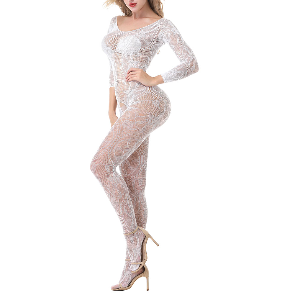 VATINE Sexy Lingerie Sexy Long Sleeve Open Underwear Sexy Costumes Adult Products Exotic Apparel Catsuit One-piece Pantyhose