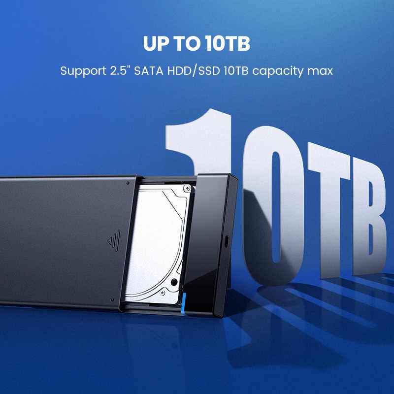 Ugreen HDD حالة 2.5 SATA إلى USB 3.0 محول القرص الصلب ضميمة ل SSD القرص HDD مربع نوع C 3.1 حالة HD الخارجية قالب أقراص صلبة