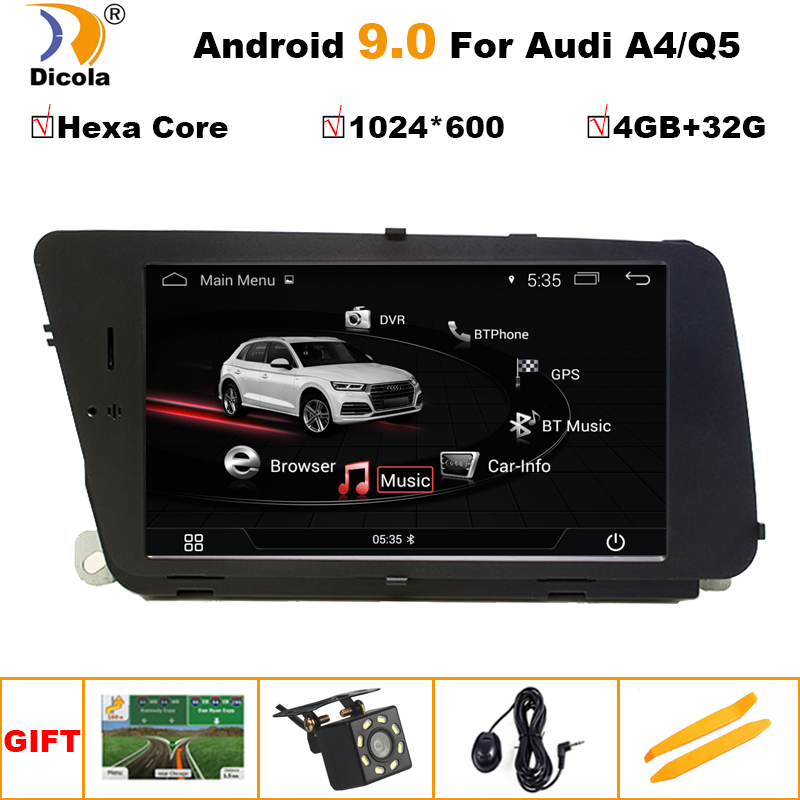 PX6 4+32G Android 9Car Multimedia Player For AUDI A4 (2008-2016 B8) Q5(2010-2016) Bluetooth 7