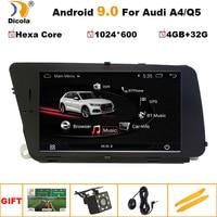 PX6 4+32G Android 9Car Multimedia Player For AUDI A4 (2008 2016 B8) Q5(2010 2016) Bluetooth 7GPS Navigation Wifi 4G DAB DVR OBD