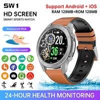 Smart Uhr Männer Galaxy Uhr 4 Android Sport Smartwatches SW1 für Huawei Samsung männer Fitness Armband Bluetooth Anruf Uhr