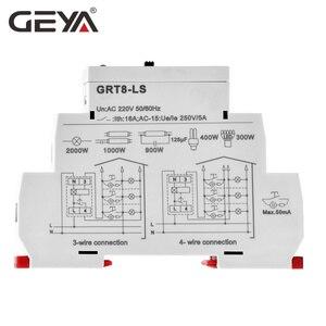 Image 4 - 送料無料 geya GRT8 LS din レール階段スイッチ照明タイマースイッチ 230VAC 16A 0.5 20 分遅延オフリレーライトスイッチ