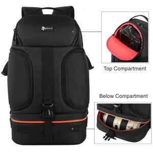 Image 4 - DSLR Waterproof Video Camera Backpack Tripod Case w/ Reflector Stripe fit 15.6in Laptop Bag for Canon Nikon Sony DSLR Photo