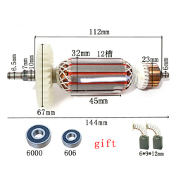 Angle Grinder Armature Rotor Stator Replac for Makita 9523 9523NB 9524NB 9525NB Rotor Coil Motor Stator Makita Power Tool Parts