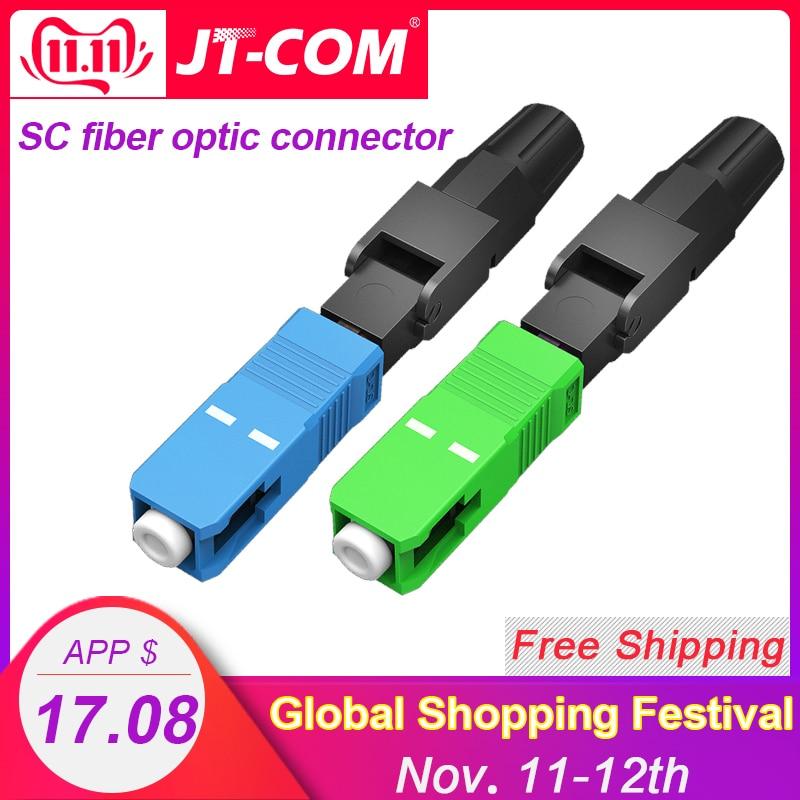200PCS FTTH SC APC Single Mode SC UPC Fiber Optic Quick Connector SC APC Fiber Optic Fast Connector SC Fiber Field Assembly