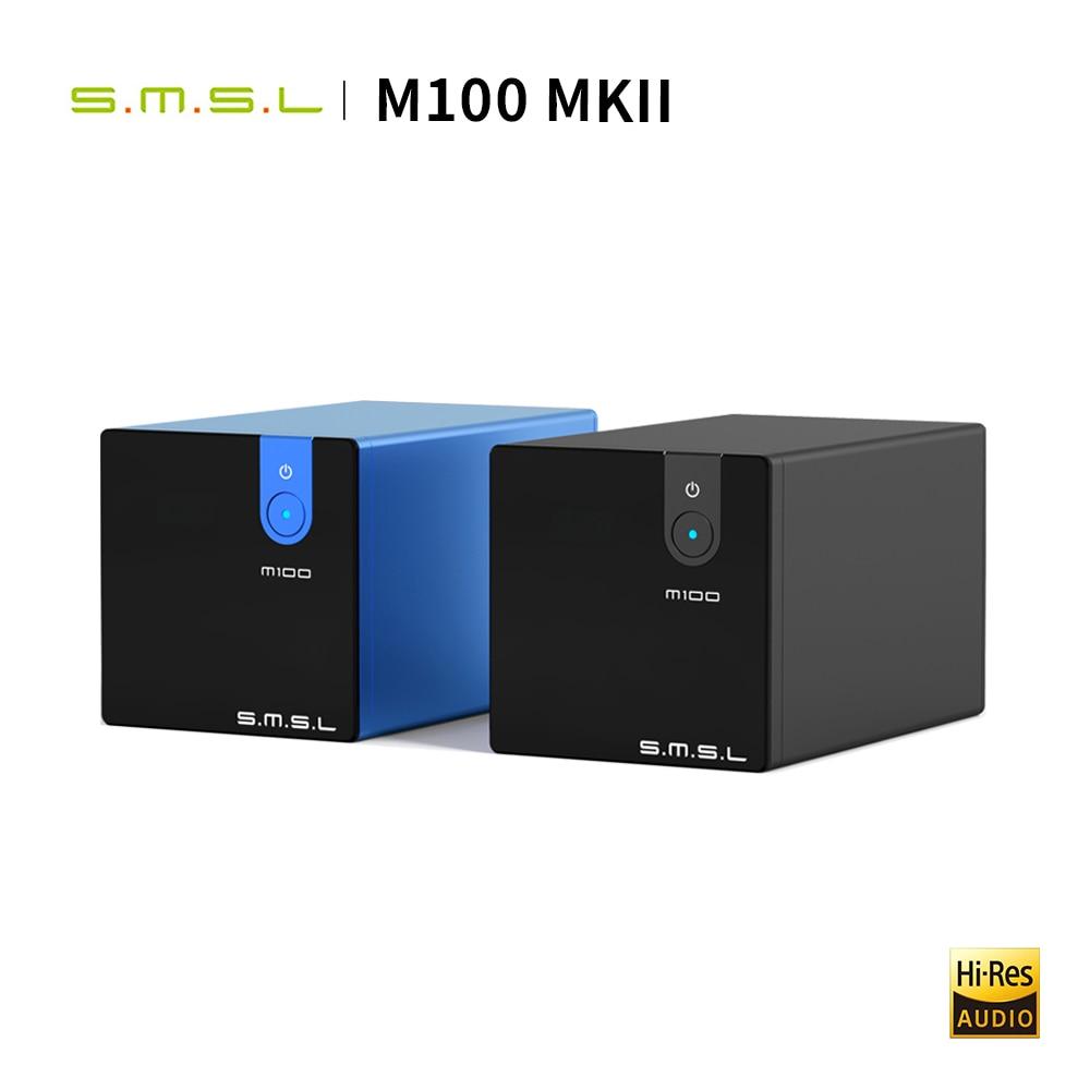 SMSL M100 MKII аудио DAC USB XMOS XCore200XU208 PCM768k/DSD512 оригинальный DSD SABRE9018Q2C THD 0.0003% аудио декодер