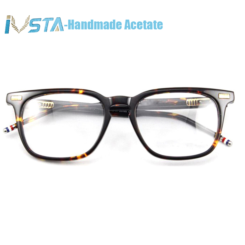 Image 5 - IVSTA Thom TB 402 404 Handmade Acetate Glasses Men Prescription Optical Frames Spectacle Square Tortoise  with Logo Luxury Brand-in Men's Eyewear Frames from Apparel Accessories
