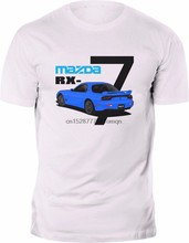 2019 Hot Sale 100% cotton New T-shirt Mazda RX7 MK2 Rotary JDM logo side Tee 100% Cotton Custom white Tee Shirt(China)