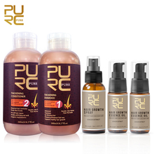 PURC Hair shampoo and conditioner for hair growth prevent hair loss and 2pcs Growth Essence Oil and 1pcs Hair Growth Spray