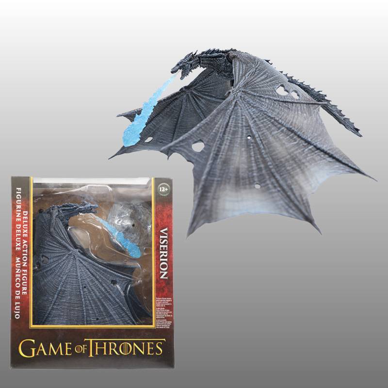 19cm Game of Thrones Season 8 Viserion Ice Dragon Joint Movable PVC Figure Night's King Knight Model Collective Toys image