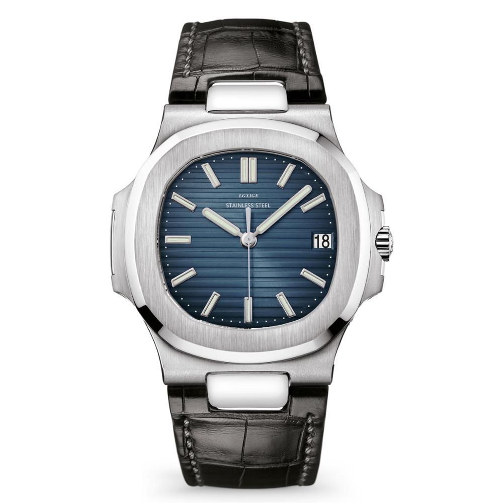 LGXIGE Brand Watch For Men Genuine Leather Luminous Hands Top Luxury mens wrist AAA watch patek 2019 new pp sport male clock(China)