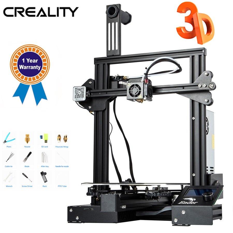 3D принтер Creality 3D New Ender 3 Pro, обновленная магнитная основа, продолжение печати после сбоя питания, набор для самостоятельной печати, надежный и