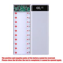 Dual Usb Lcd Power Bank Shell 10X18650 Batterij Case Charger Box Accessoires