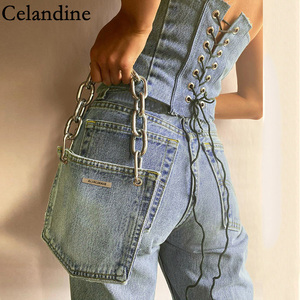 Celandine Sexy Bandage Crop Tops Women Sleeveless Backless Tank Tops Ladies Corset Top With Bag Bustier Spring Autumn 2020