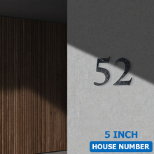 127mm 5inch Big House Number Hammered Style Door Address Number Digits Carbon Steel Black House Door Address Sign #0-9 ce iso certification door plates house number plastic abs retro electroplated number 3 to 4 digits customized