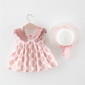 6M 1 2 3 Years Old Baby Girls Pricess Summer Dress Little Kids Short Sleeve Clothes Children Casual Dresses Suspenders Costume