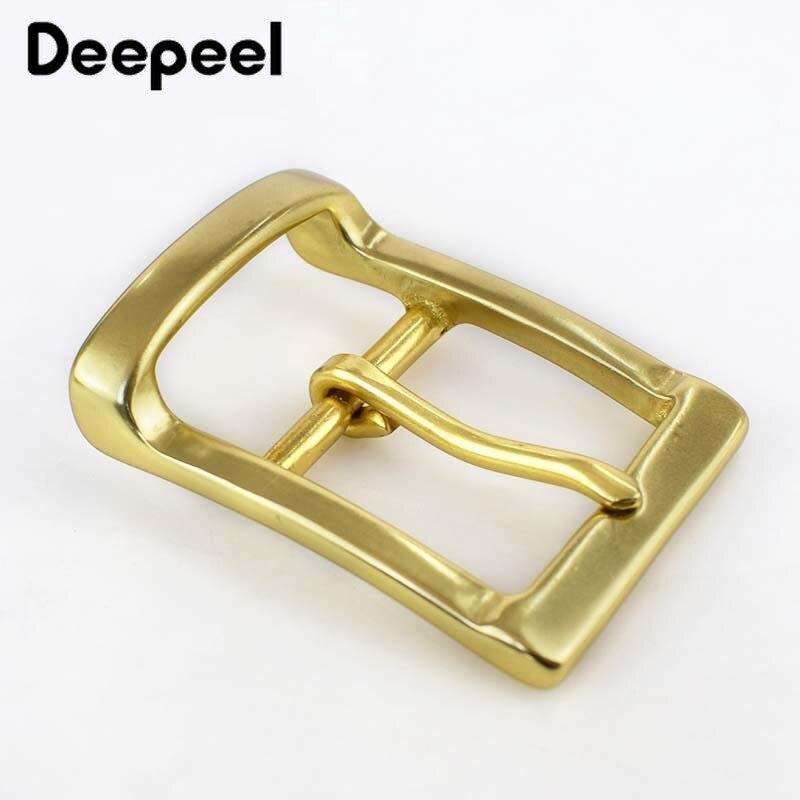 Deepeel 1pc 40mm Solid Brass Belt Buckle For Men 38-39mm Belts Metal Pin Buckle Belt Head DIY Leather Craft Hardware Accessories