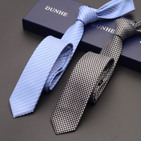 High Quality 2019 Designer Brand 5CM Slim Ties for Men Silver Fashion Business Necktie Graduation Work Party Casual Ties