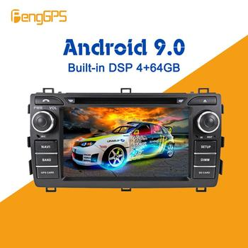 Android 9.0 PX5 4+64GB car DVD player Built-in DSP Car multimedia Radio For Toyota Auris 2013 2014 2015 GPS Navigation Headunit