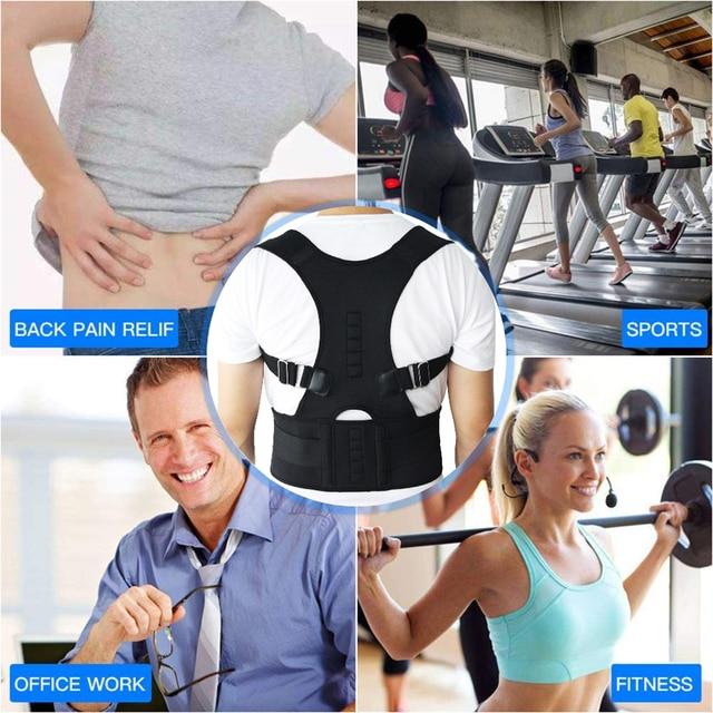Aptoco Magnetic Therapy Posture Corrector Brace Shoulder Back Support Belt for Men Women Braces & Supports Belt Shoulder Posture 3