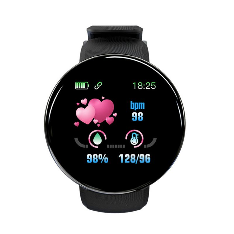 Bluetooth Smart Watch Blood Pressure Round Smartwatch Men Wo Memory Card