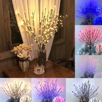 77CM Artificial Flowers led Fairy String Lights Fake Flower Branch Christmas Garland For Wedding Valentine Day Event Party Decor fairy rose 1 5m 10led string lighting bookcase nightlight valentine day flower flasher warm white party wedding christmas decor