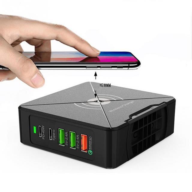 노트북 75W PD 로터리 스탠드 여행 홈 타입 C 휴대 전화 안전 USB 빠른 충전기 멀티 포트 전원 어댑터 벽 플러그