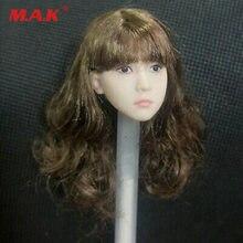 Glf 1/6 маленькая девочка резьба по голове модель вьющиеся волосы