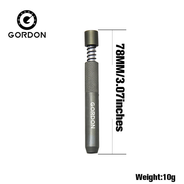 GORDON Metal One Hitter 78MM Aluminum Smoking Pipe Cigarette Dugout Pipes Tobacco Herb Pipe Accessories