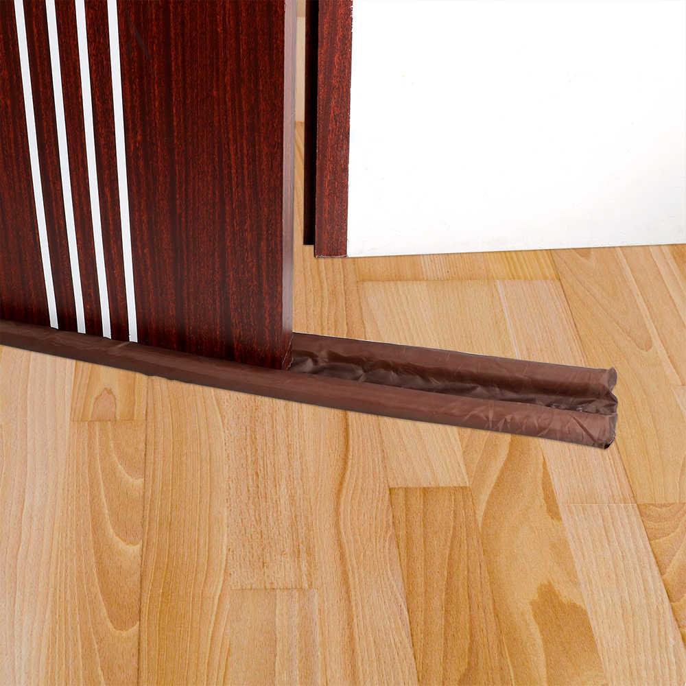 Hilife vento poeira bloqueador portas e janelas protecter porta pára decorações de casa marrom