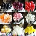 100pcs/50Pcs/set birthday balloons Latex balloons 2021 Gold red pink blue Wedding Party balloon Ball kids toys Pearl air ballons