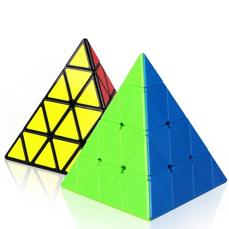 Qiyi 4x4x4 Pyramid Speed Cube QIYI Pyramid 4×4 Puzzle Magic 4×4 Puzzle Pyramid cube Children Education Toys img2