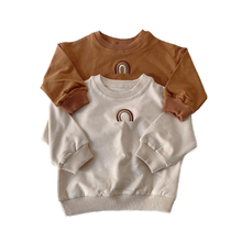 Outfits T-Shirt Embroidery Rainbow Toddler Baby-Girls-Boys Kids Tops Long-Sleeve Autumn