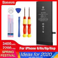Baseus bateria do telefone móvel para iphone 6 s 6 s plus 6 mais substituição original batterie de alta capacidade para apple iphone6