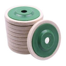 10Pcs 100Mm 4 Inch Wool Buffing Round Polishing Wheels Pads Polisher Wheels for Copper Iron&Aluminum Metal Polishing Tools