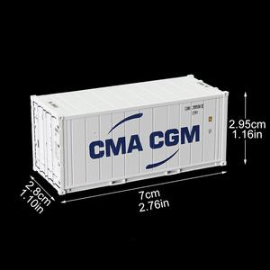 Image 3 - 6pcs שונה מעורב 20ft היי קוביית Refrigerater 1: 87 20 רגליים מכולות דגם משא מיכל מכוניות