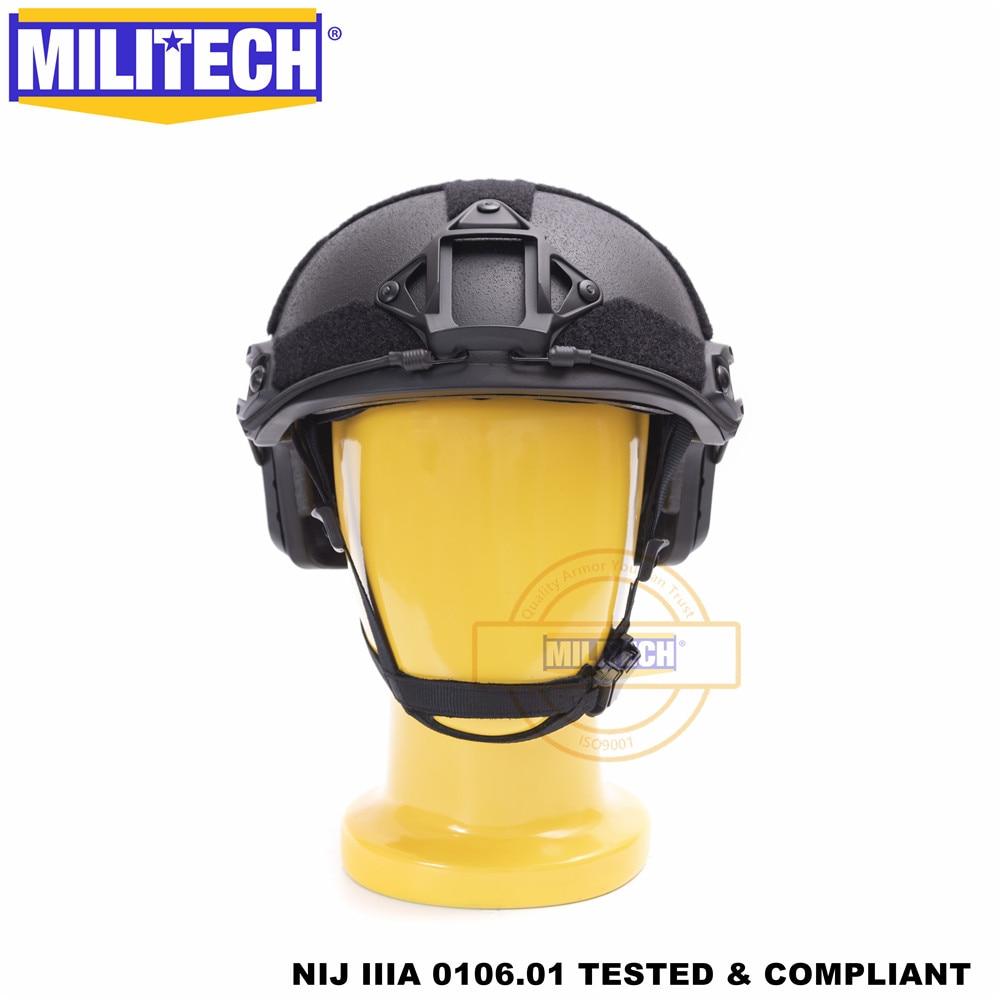 Сертифициран по ISO MILITECH BK Deluxe червячен циферблат NIJ ниво IIIA 3A БЪРЗО балистичен арамиден шлем с високо изрязване с 5 години гаранция DEVGRU