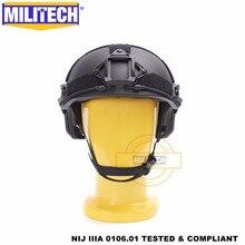 ISO Zertifiziert MILITECH BK Deluxe Wurm Zifferblatt NIJ level IIIA 3A SCHNELLE High Cut Ballistischen Aramid Helm Mit 5 Jahre garantie DEVGRU