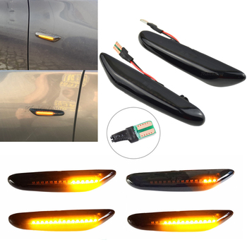 Dynamic Turn Signal Light T10 LED Side Marker Sequential Indicator For BMW 1 3 5 Series X1 E81 E82 E46 E90 E91 E60 E61 E84 image