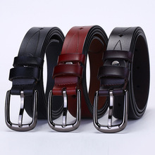 New Women Cowskin Belts Ladies Simple Western Design Waist Belt for Pants Jeans Dresses Femme Belt Fashion Embossing Strap