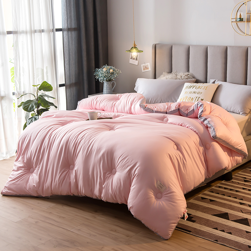 CF New Home Textile Bedding Comforters Duvets High Quality Comfortable Summer/winter Pure Color Air Conditioner Cool Thin Quilt