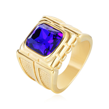 Luxury Fashion Jewelry Rings High Quality Titanium Steel Ring With Zircon Rectangle Casting Rings For Men Party Wedding Gifts цена и фото