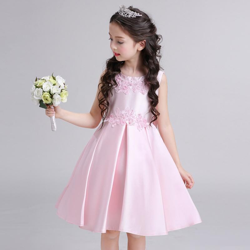 2017 New Style Children Wedding Dress Princess Dress Tutu Dress CHILDREN'S DAY Flower Boys/Flower Girls Performance Small Host F