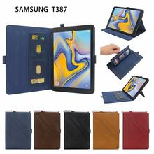 Tablet PU Leather Stand Case Cover For Samsung Galaxy T387 8 Inch Bracket With Pen Case Magnetic Protective Cover(China)